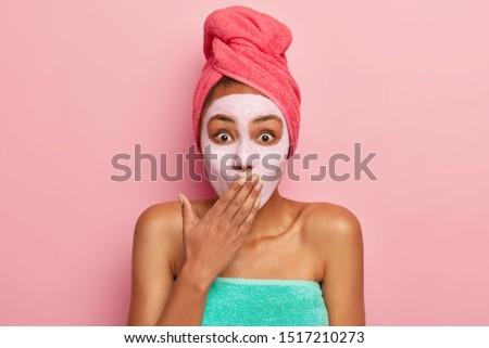 小さな 信じられない 女性 立って ポーズ ピンク ストックフォト © deandrobot