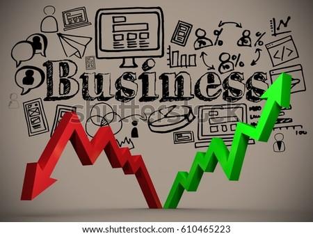 grafikon · mutat · hanyatlás · pénz · piac · információ - stock fotó © wavebreak_media