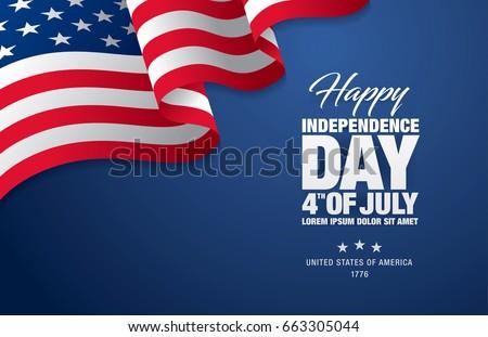 negyedik · boldog · nap · Amerika · illusztráció · amerikai · zászló - stock fotó © vectomart