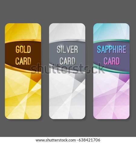 Szett három prémium bannerek üdvözlőlap design minta Stock fotó © SArts