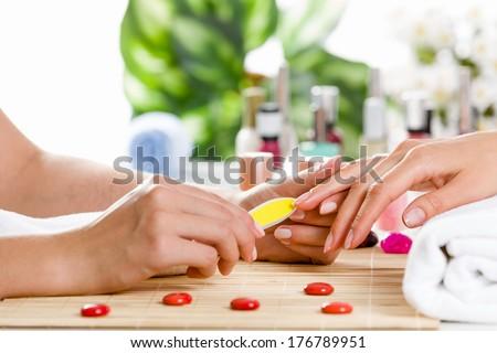 manikür · süreç · güzellik · salonu · kadın - stok fotoğraf © vlad_star