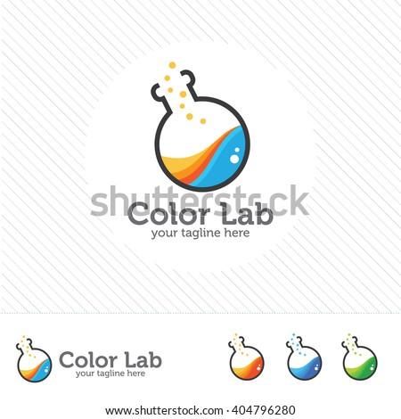 Kreatív vegyi színes logoterv márka arculat Stock fotó © DavidArts