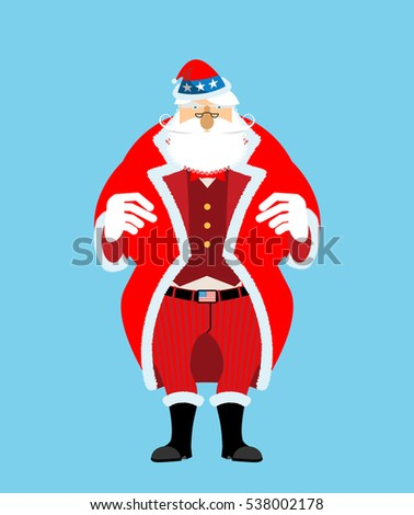 Patriotic Santa Claus cap. Winter Hat Uncle Sam. Christmas Cylin Stock photo © popaukropa