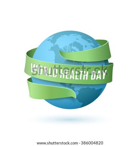 世界 健康 日 世界中 リボン にログイン ストックフォト © alexmillos