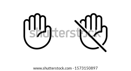 Do not touch icon, vector illustration isolated on white background. Stock photo © kyryloff
