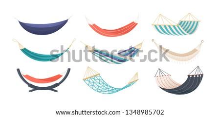 Megnyugtató nyár tengerpart függőágy tárgy terv Stock fotó © svvell