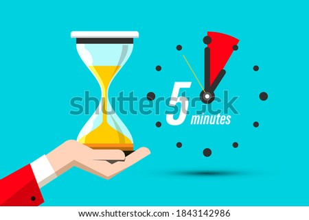 Isolated stopwatch icon five past on a white background. Vector illustration Stock photo © Imaagio