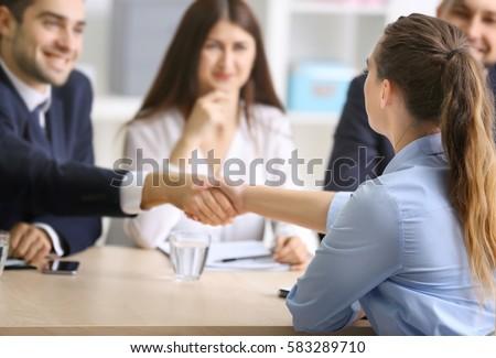 仕事 申請者 インタビュー ビジネス 小さな 候補者 ストックフォト © snowing