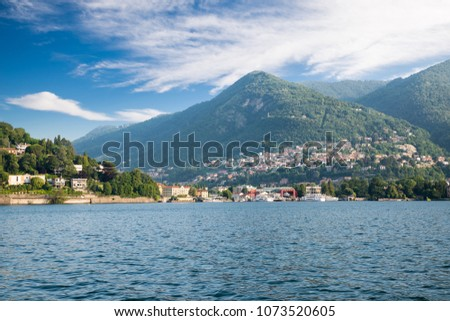stad · meer · milaan · hemel · water · wolken - stockfoto © boggy