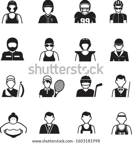 Atlet ayarlamak vektör adam kadın amerikan Stok fotoğraf © pikepicture