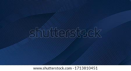 Abstract vector golvend witte lijnen brochure Stockfoto © fresh_5265954