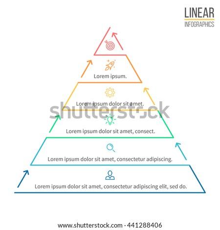 пирамида Инфографика линейный диаграмма диаграммы шаги Сток-фото © kyryloff