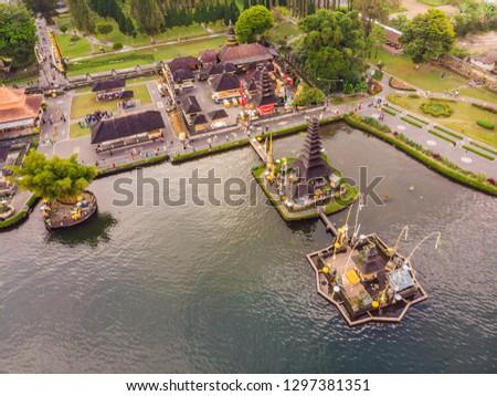 Foto bali templo flores lago Foto stock © galitskaya
