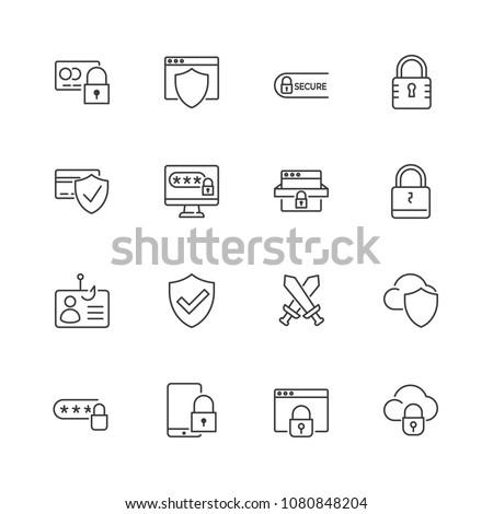 cadeado · estilo · vetor · simples · ilustração · trancar - foto stock © kyryloff