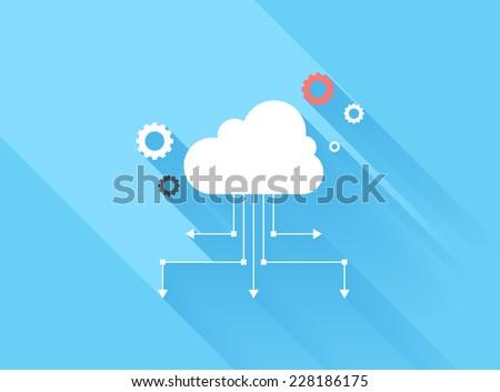 ícone nuvem seo estilo Foto stock © ussr