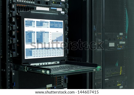 Firewall on the computer monitor icon isolated on a white backgr stock photo © kyryloff