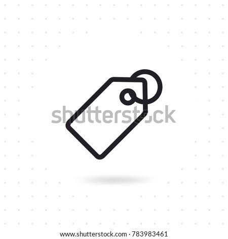 Prezzo tag icona etichetta siti web apps Foto d'archivio © kyryloff