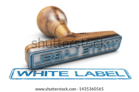 White Label or Private Labeling, Rubber Stamp Over White Backgro Stock photo © olivier_le_moal