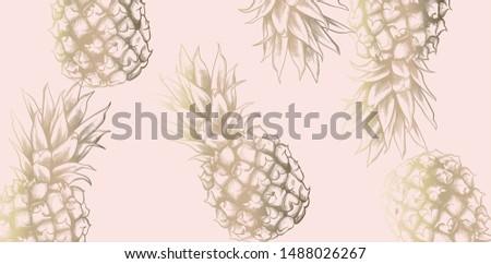 vintage · patroon · ananas · vector · retro - stockfoto © frimufilms