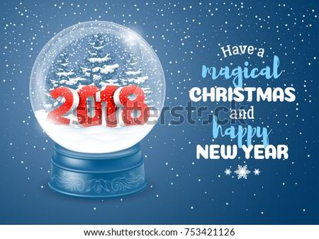 Сток-фото: Рождества · вектора · снега · мира · праздник