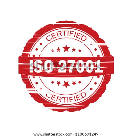 ISO 27001 stamp sign - information security standard, web label  Stock photo © Winner