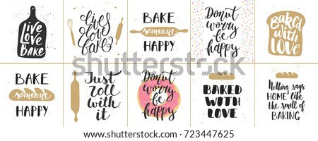 Set of bakery, bread shop emblems. Design element for poster, logo, label, sign.  Stock photo © masay256