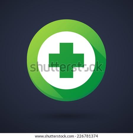 Gyógyszertár szimbólum ikon árnyék zöld kör Stock fotó © Imaagio