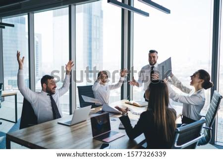 вид сбоку деловые люди рук бизнеса семинара Сток-фото © wavebreak_media