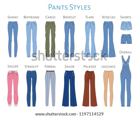 flat formal wide pants women_icon Stock photo © toyotoyo