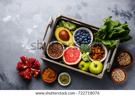Bowl of fresh lettuce with berries Stock photo © Alex9500