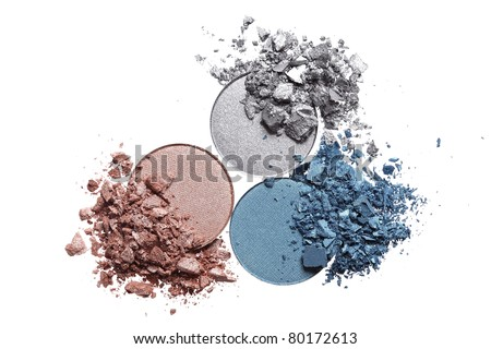 Crushed eyeshadow palette close-up isolated on white background Stock photo © Anneleven