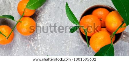 Banner heerlijk mooie citrus vers zwarte Stockfoto © Illia