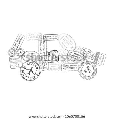 черный иммиграция марок автомобилей форма изолированный Сток-фото © evgeny89