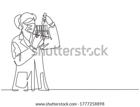 Coronavirus laboratoire recherche femme chercheur Photo stock © Maridav