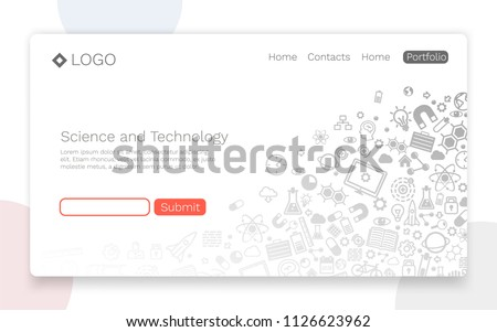 STEM education concept landing page Stock photo © RAStudio