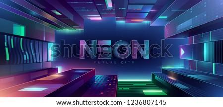 Vetor néon dígito tijolo bar clube Foto stock © IMaster