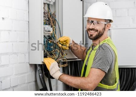 Repairman Electrician Man Or Repair Technicians Stock photo © AndreyPopov