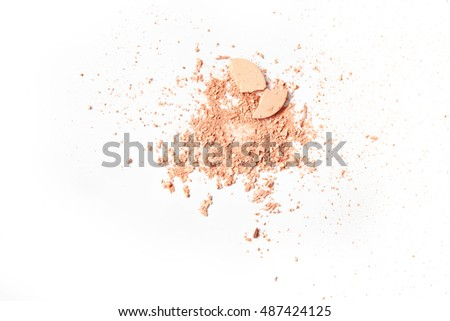 Crushed face powder isolated Stock photo © goir