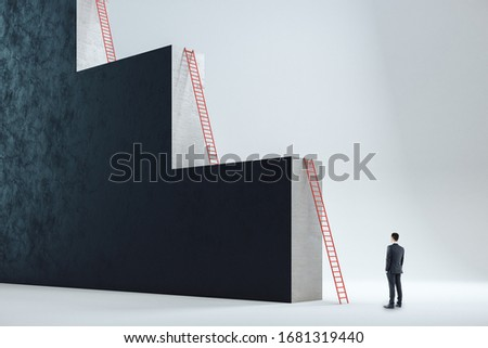 Businessman in career ladder concept Stock photo © Elnur