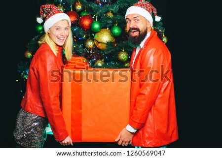 christmas · vrouw · kerstboom · groot · geschenkdoos - stockfoto © hasloo