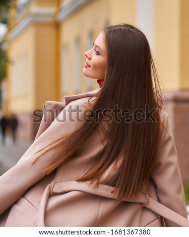 Pretty Stylish Woman in Urban Costume. Elegance. Trendy Collection stock photo © gromovataya