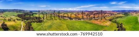 オーストラリア人 · 国 · パノラマ · 周りに · ハンター - ストックフォト © clearviewstock