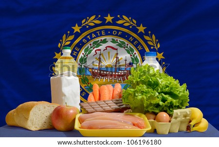 Complete Waved Flag Of American State Of New Hampshire For Backg Stockfoto © vepar5