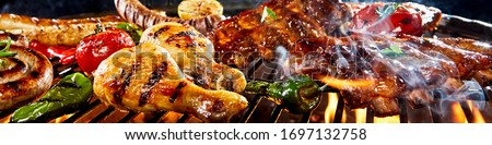 Grilled barbecue Stock photo © smuay