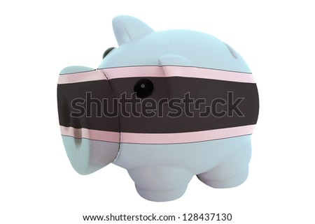 piggy rich bank in colors national flag of botswana   for saving Stock photo © vepar5