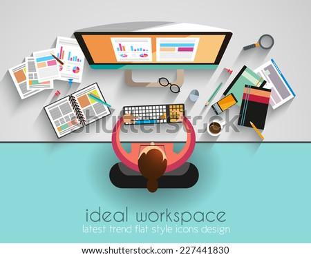 Stock fotó: Munkaterület · csapatmunka · stílus · terv · elemek · számítógépek