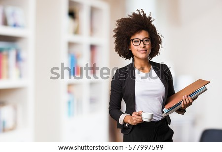 очаровательный · молодые · черную · женщину · рабочих · ноутбука · Top - Сток-фото © hasloo