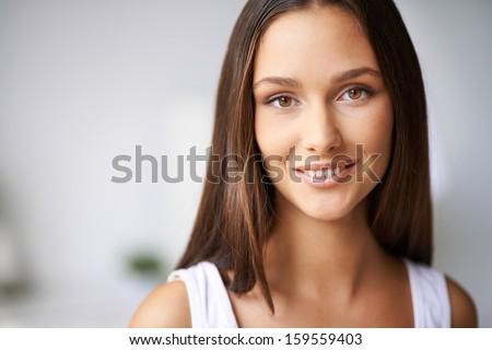 美人 · 顔 · パーフェクト · 白人 · 若い女の子 - ストックフォト © arturkurjan