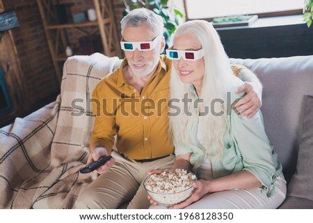 Sweethearts with 3d glasses Resting on the Sofa Stock photo © juniart