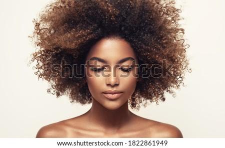 Foto stock: Belleza · retrato · mujer · primer · plano · atractivo · morena